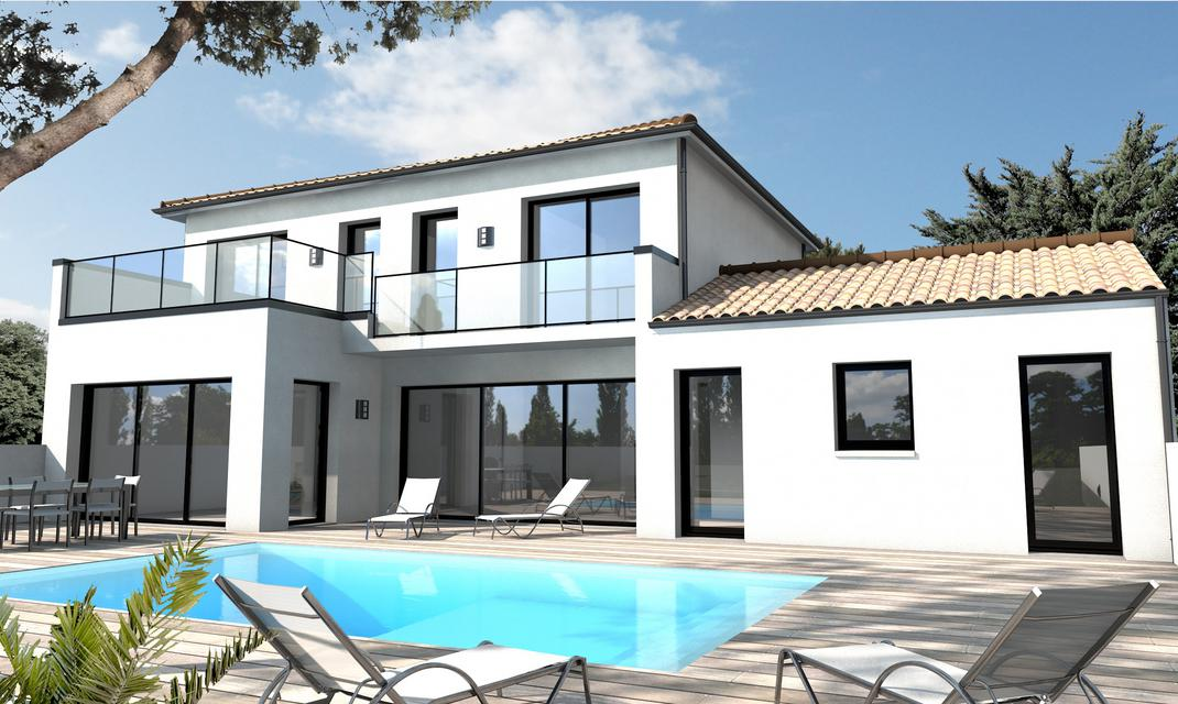 maison contemporaine sur-mesure 44, 56, 85 - depreux construction - Photo De Maison Contemporaine