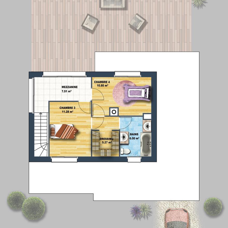 Maison Contemporaine Mezzanine Carnac Depreux Construction