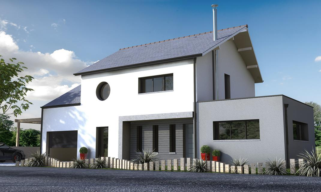 Maison contemporaine sur mesure 44 56 85 depreux for Construction contemporaine