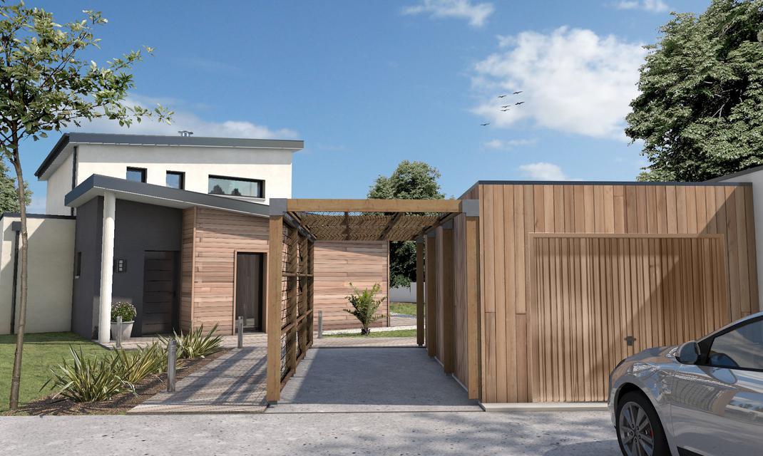 Maison cubique toiture monopente Talmont St Hilaire ...