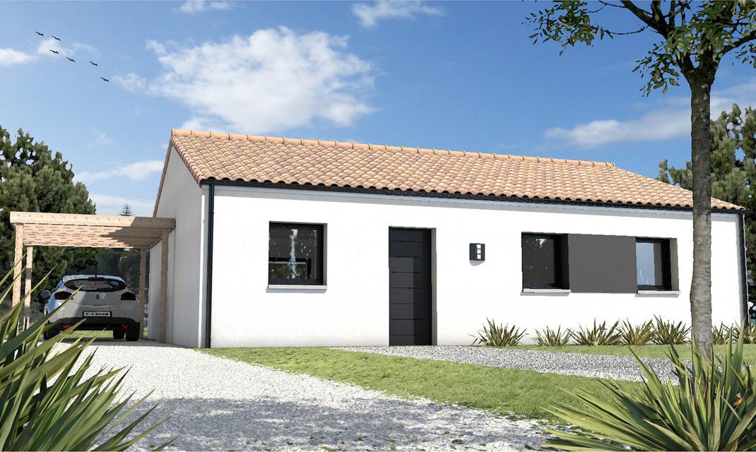 plan plain pied tuile sans garage partir de 93 900 depreux construction. Black Bedroom Furniture Sets. Home Design Ideas