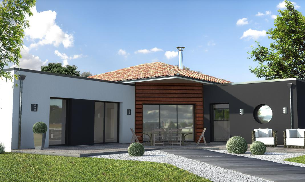 Maison contemporaine sur mesure 44 56 85 depreux for Construction maison pas cher