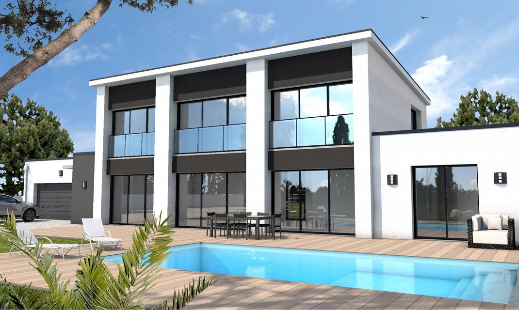 Maison moderne sur mesure 44 56 85 depreux construction for Construction contemporaine