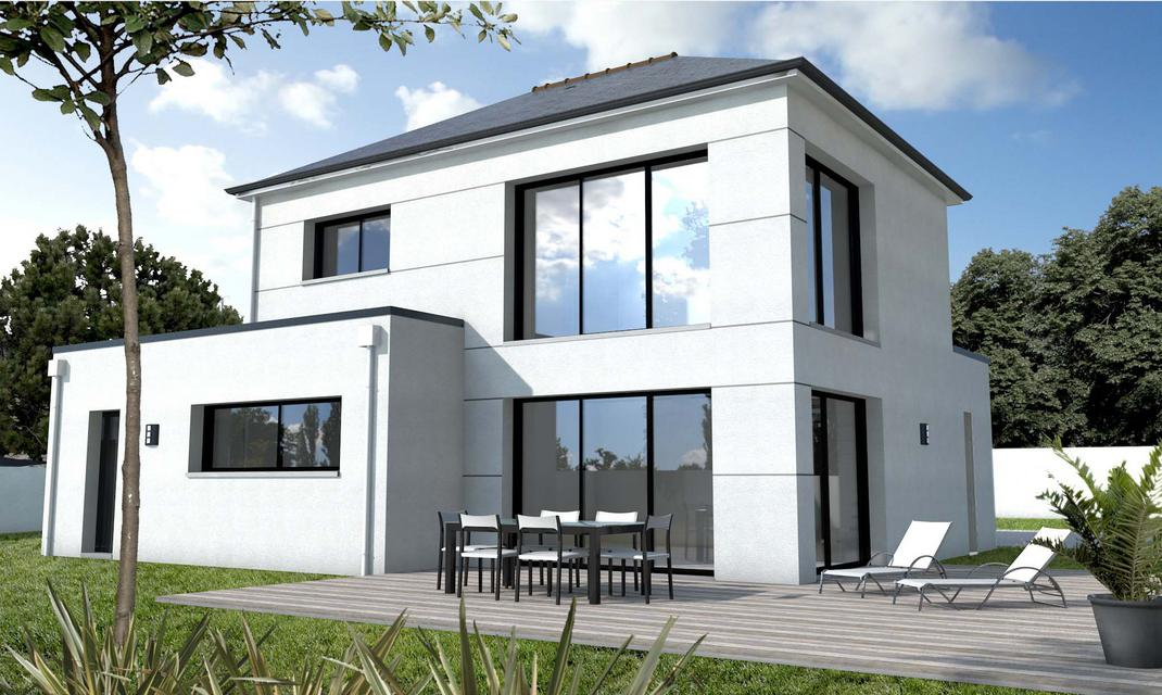 Maison contemporaine sur mesure 44 56 85 depreux construction for Construction maison moderne