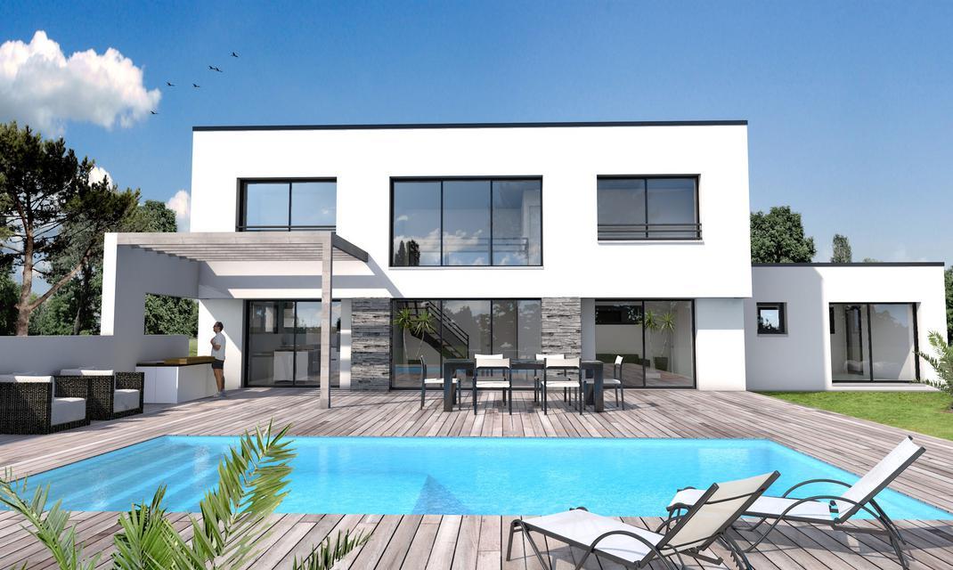 Maison moderne vide sur s jour st gilles croix de vie depreux construction for Photo de plan de maison