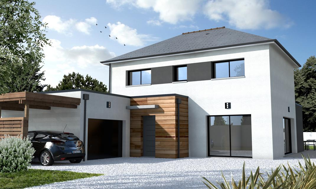 Maison contemporaine sur mesure 44 56 85 depreux for Construction petite maison