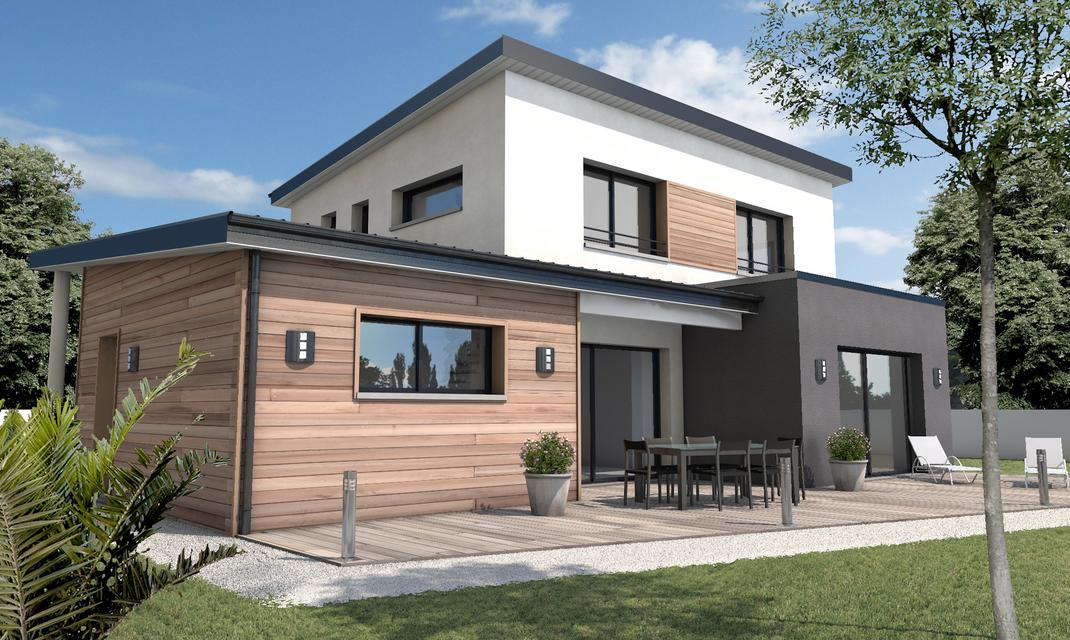 Maison moderne sur mesure 44 56 85 depreux construction for Constructeur maison bois contemporaine