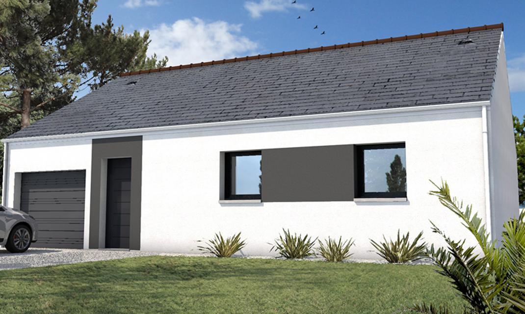 Plan plain-pied ardoise avec garage à partir de 100 700 €* - Depreux ...