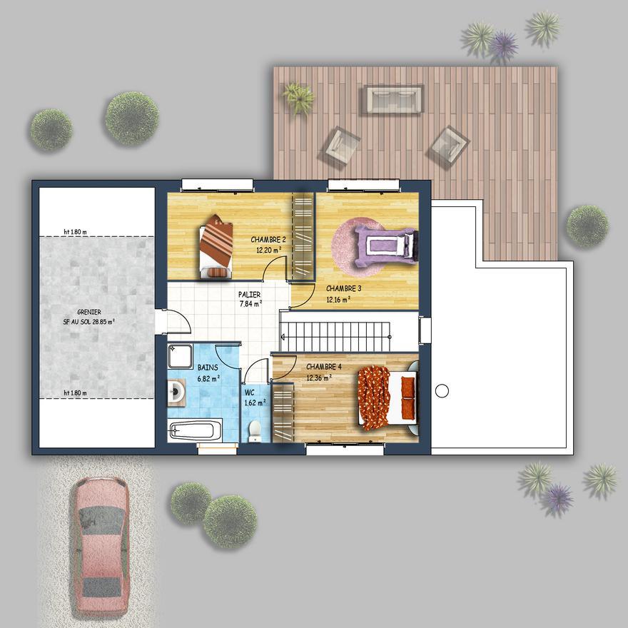 Maison Familiale Contemporaine St Herblain Depreux Construction