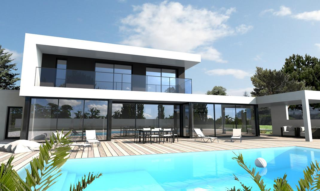 Maison moderne sur mesure 44 56 85 depreux construction for Villa ultra moderne
