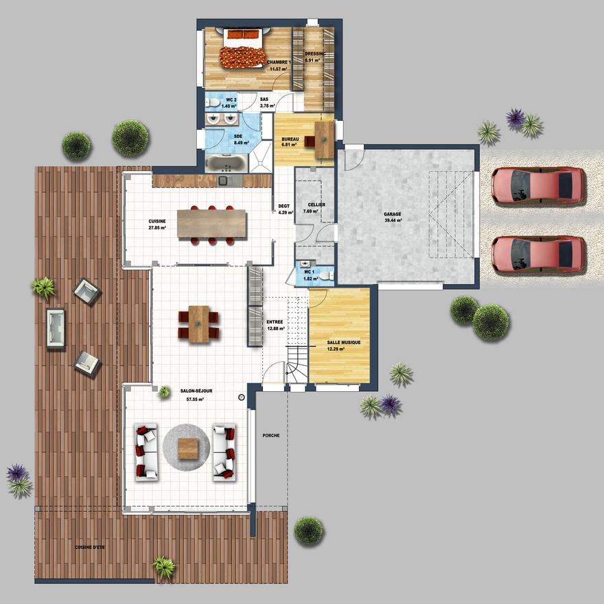 Maison ultra moderne noir et blanc nantes depreux for Modele maison cubique