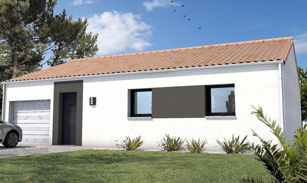 Plan plainpied tuile avec garage partir de uac with for Construire sa maison plain pied