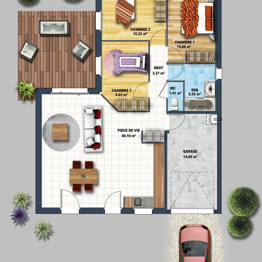 Plan De Maison Plain Pied Gratuit Faire Construire Sa Maison 5