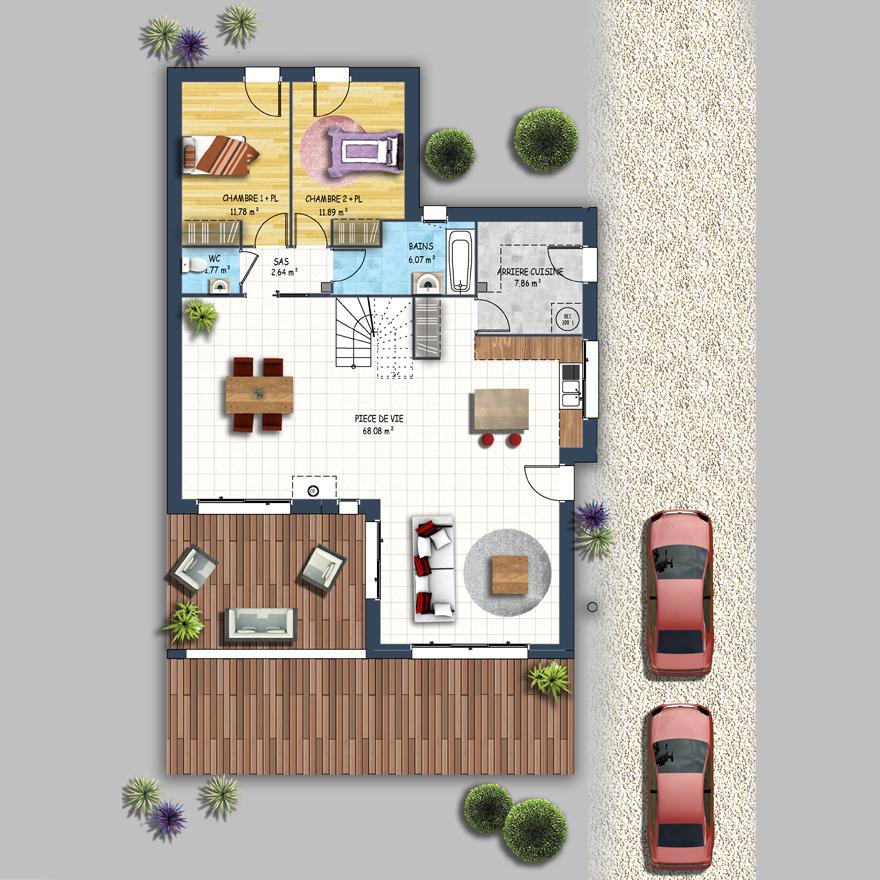 Maison style urbain basse goulaine depreux construction for Piscine basse goulaine ouverture