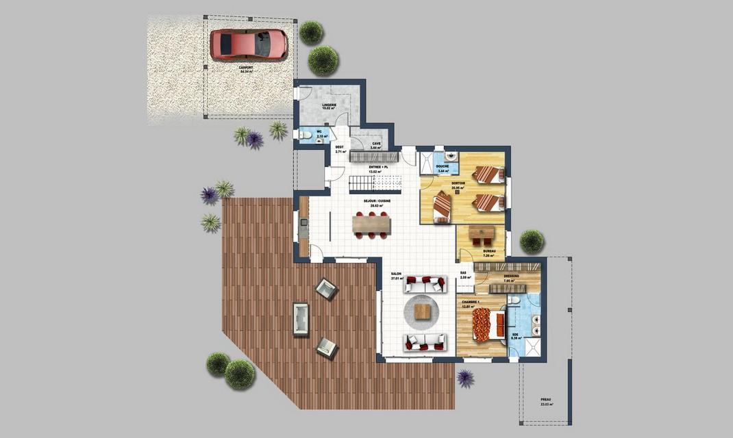 Maison En L En U En T Les Differentes Formes De Maison Depreux Construction