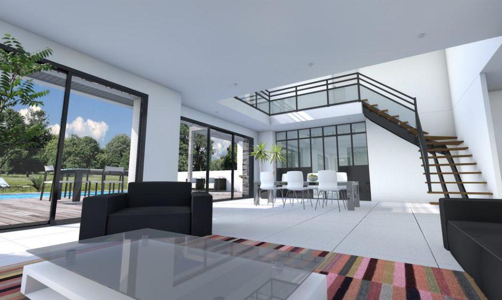Vide Sur Séjour Et Déplafonné Pour Une Maison Moderne