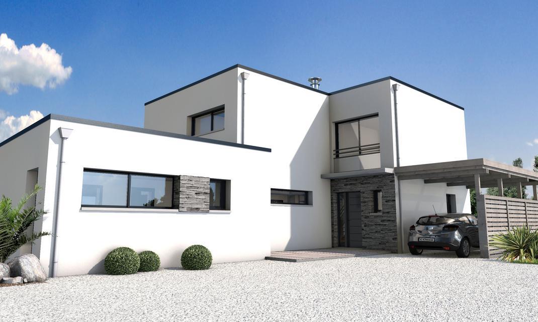 maison-contemporaine-cubique - Depreux Construction
