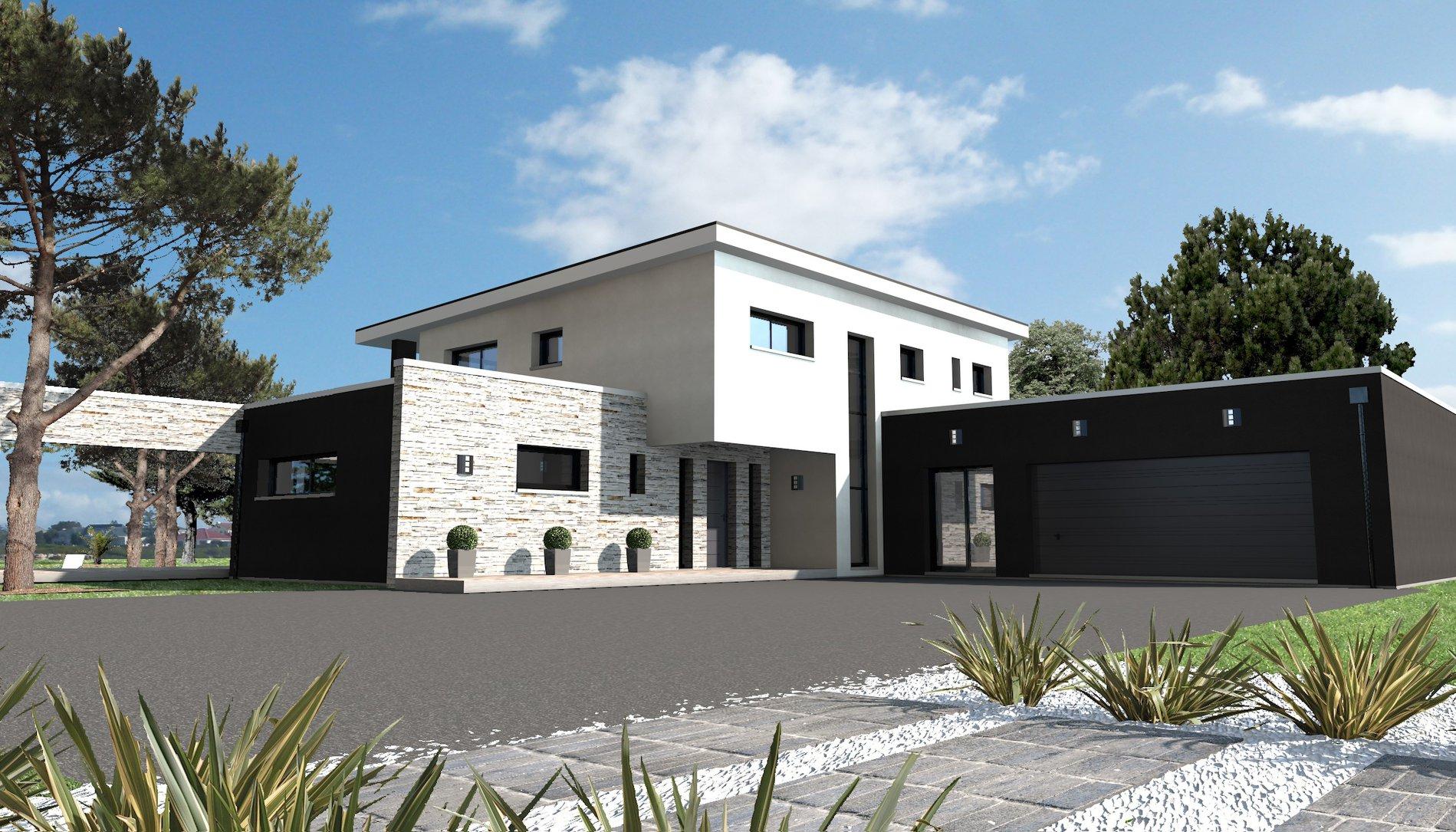 Entrée De Maison Avec Marche un porche d'entrée moderne & design - maison depreux