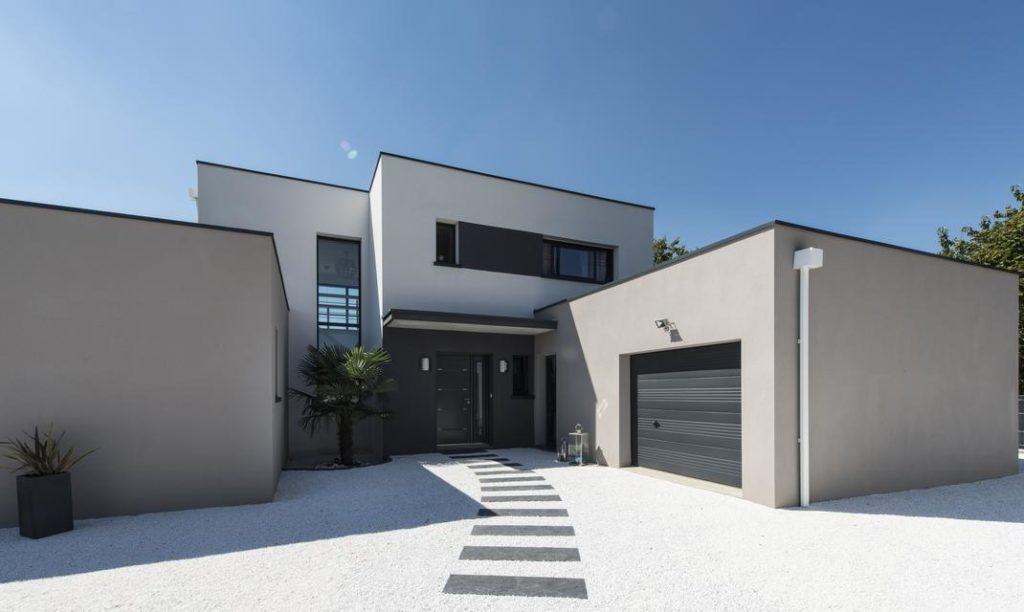 Un porche et une entrée de maison modernes - Depreux ...