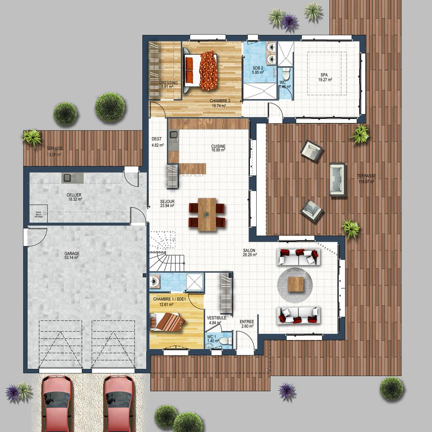 Plan De Maison Agencements D Interieur D Une Maison Depreux Construction