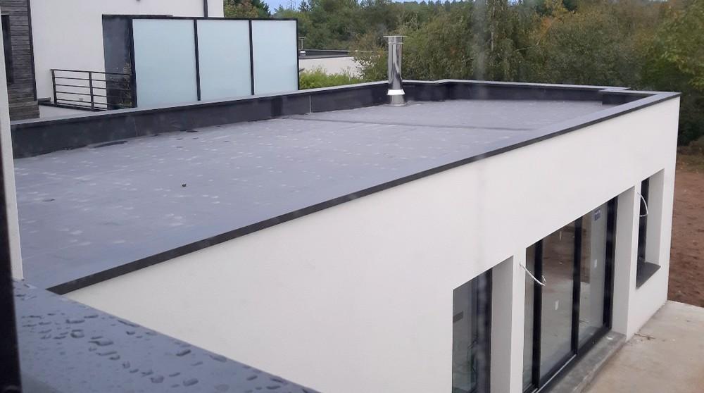 Etancheite De Toit Plat Membrane Epdm Ou Pvc Depreux Construction